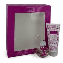 Coach Poppy Flower Perfume by Coach -- Gift Set - 1 oz eau De Parfum Spray + 3.4 oz Body Lotion
