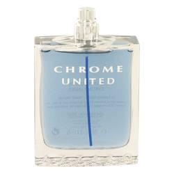 Chrome United Cologne by Azzaro 3.4 oz Eau De Toilette Spray (Tester)