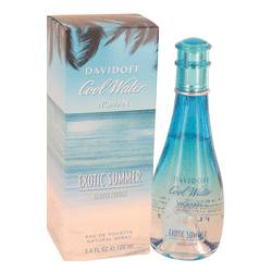 Cool Water Exotic Summer Perfume by Davidoff, 3.4 oz EDT Spray (limited edition) for Women