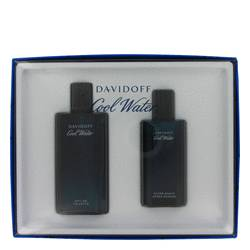 Cool Water Cologne by Davidoff -- Gift Set - 4.2 oz Eau De Toilette Spray + 2.5 oz After Shave Splash