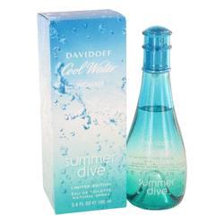 Cool Water Summer Dive Perfume by Davidoff 3.4 oz Eau De Toilette Spray