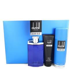 Desire Blue Cologne by Alfred Dunhill -- Gift Set - 3.4 oz Eau De Toilette Spray + 3 oz Shower Gel + 6.4 oz Body Spray