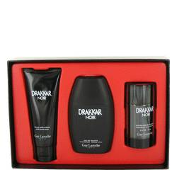 Drakkar Noir Cologne by Guy Laroche -- Gift Set - 3.4 oz Eau De Toilette Spray + 3.4 oz After Shave Balm + 2.5 oz Deodorant Stick