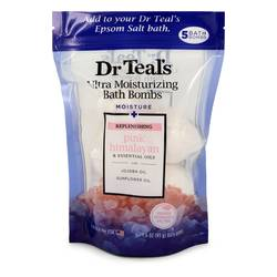 Dr Teal's Ultra Moisturizing Bath Bombs Cologne by Dr Teal's 1.6 oz Five (5) 1.6 oz Moisture Replenishing Bath Bombs with Pink Himalayan, Essential Oils, Jojoba Oil, Sunflower Oil (Unisex)