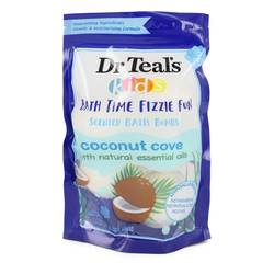 Dr Teal's Ultra Moisturizing Bath Bombs Cologne by Dr Teal's 1.6 oz Five (5) 1.6 oz Kids Bath Time Fizzie Fun Scented Bath Bombs Coconut Cove with Natural Essential Oils (Unisex)