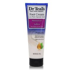 Dr Teal's Pure Epsom Salt Foot Cream Perfume by Dr Teal's, 240 ml Pure Epsom Salt Foot Cream with Shea Butter & Aloe Vera & Vitamin E for Women