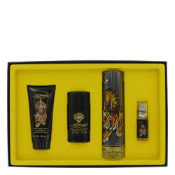 Ed Hardy Cologne by Christian Audigier -- Gift Set - 3.4 oz Eau DeToilette Spray + .25 oz Mni EDT Spray + 3 oz Shower Gel + 2.75 oz Deodorant Stick
