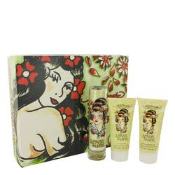 Love & Luck Perfume by Christian Audigier -- Gift Set - 1.7 oz Eau De Parfum Spray + 3 oz Body Lotion + 3 oz Bath & Shower Gel