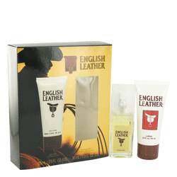 English Leather Cologne by Dana -- Gift Set - 1 oz Cologne Spray + 2 oz Body Lotion