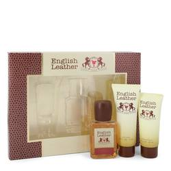 English Leather Cologne by Dana -- Gift Set - 3.4 oz Cologne Body Spash + 2 oz After Shave Balm + 2.5 oz Body Wash