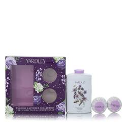 English Lavender Perfume by Yardley London -- Gift Set - 7 oz Perfumed Talc + 2-3.5 oz Soap