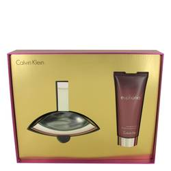 Euphoria Perfume by Calvin Klein -- Gift Set - 3.4 oz Eau De Parfum Spray + 3.4 oz Sensual Skin Lotion (Travel Kit)