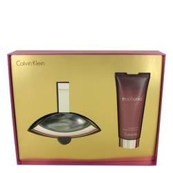 Euphoria Perfume by Calvin Klein -- Gift Set - 3.4 oz Eau De Parfum Spray + 3.4 oz Sensual Skin Lotion