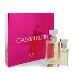 Eternity Perfume by Calvin Klein -- Gift Set - 3.4 oz Eau De Parfum Spray + 1 oz Eau de Parfum Spray