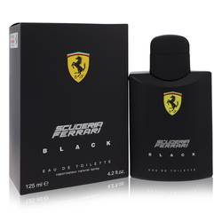 Ferrari Scuderia Black Cologne by Ferrari 4.2 oz Eau De Toilette Spray