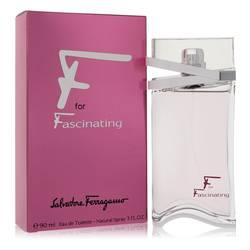 F For Fascinating Perfume by Salvatore Ferragamo 3 oz Eau De Toilette Spray