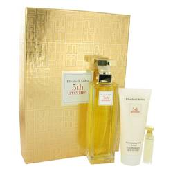 5th Avenue Perfume by Elizabeth Arden -- Gift Set - 4.2 oz Eau De Parfum Spray + .12 oz Mini + 3.3 oz Body Lotion
