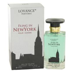 Fling In New York Cologne by Lovance 3.4 oz Eau De Toilette Spray