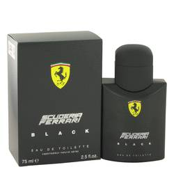 Ferrari Scuderia Black Cologne by Ferrari 2.5 oz Eau De Toilette Spray