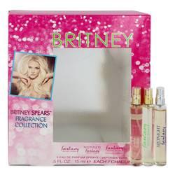 Fantasy Perfume by Britney Spears -- Gift Set - .5 oz Fantasy Min EDP Spray + .5 oz Fantasy Midnight Mini EDP Spray + .5 oz Fantasy Intimate Edition Mini EDP Spray (Manufacture FIlled 2/3)