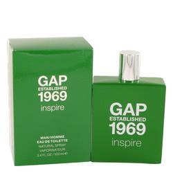 Gap 1969 Inspire Cologne by Gap, 3.4 oz Eau De Toilette Spray for Men