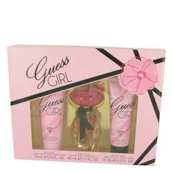 Guess Girl Perfume by Guess -- Gift Set - 1.7 oz Eau De Toilette Spray + 2.5 oz Body Cream + 2.5 oz Shower Cream