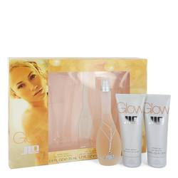 Glow Perfume by Jennifer Lopez -- Gift Set - 1.7 oz Eau De Toilette Spray + 2.5 oz Body Lotion + 2.5 oz Shower Gel