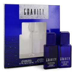 Gravity Cologne by Coty -- Gift Set - Two 1.7 oz Cologne Sprays