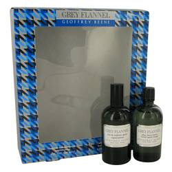 Grey Flannel Cologne by Geoffrey Beene -- Gift Set - 4 oz Eau De Toilette Spray + 3.4 oz After Shave Lotion