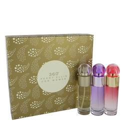 Perry Ellis 360 Perfume by Perry Ellis -- Gift Set - 1 oz Perry Ellis 360 EDT Spray + 1 oz Perry Ellis 360 Coral EDP Spray + 1 oz Perry Ellis 360 Purple EDP Spray