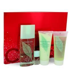 Green Tea Perfume by Elizabeth Arden -- Gift Set - 3 oz Eau Pafumee Spray + 3.3 oz Shower Gel + 3.3 oz Conditioner + .12 oz Scent Eau Parfumee