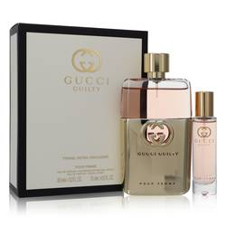 Gucci Guilty Perfume by Gucci -- Gift Set - 3 oz Eau De Parfum Spray + 0.5 oz Travel Eau De Parfum Spray