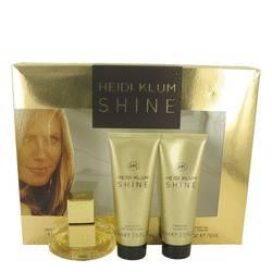 Shine Perfume by Heidi Klum -- Gift Set - 1 oz Eau De Toilette Spray + 2.5 oz Body Lotion + 2.5 oz Shower Gel