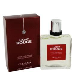 Habit Rouge Cologne by Guerlain 3.4 oz After Shave
