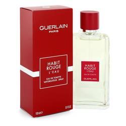 Habit Rouge L'eau Cologne by Guerlain 3.3 oz Eau De Toilette Spray