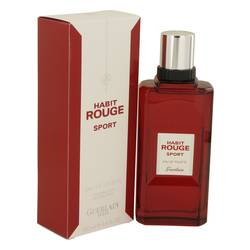 Habit Rouge Sport Cologne by Guerlain 3.4 oz Eau De Toilette Spray
