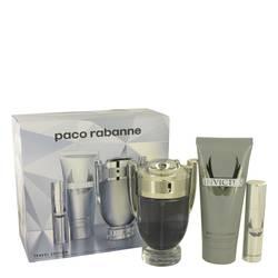 Invictus Cologne by Paco Rabanne -- Gift Set - 3.4 oz Eau De Toilette Spray + .34 oz Mini EDT Spray +3.4 oz Body Wash