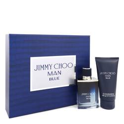 Jimmy Choo Man Blue Cologne by Jimmy Choo -- Gift Set - 1.7 oz Eau De Toilette Spray + 3.3 oz Shower Gel