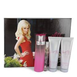 Just Me Paris Hilton Perfume by Paris Hilton -- Gift Set - 3.3 oz Eau De Parfum Spray + 3 oz Body Lotion + 3 oz Shower Gel + .34 oz Mini EDP Spray
