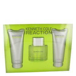 Kenneth Cole Reaction Cologne by Kenneth Cole -- Gift Set - 1.7 oz Eau De Toilette Spray + 3.4 oz Shower Gel + 3.4 oz After Shave Gel