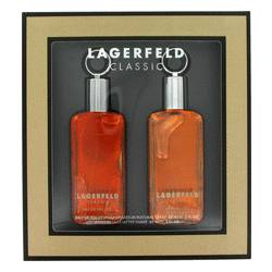 Lagerfeld Cologne by Karl Lagerfeld -- Gift Set - 2 oz Eau De Toilette Spray + 2 oz After Shave