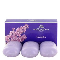 Lavender Perfume by Woods of Windsor 3 x 100g Fine English Soap