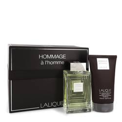 Lalique Hommage A L'homme Cologne by Lalique -- Gift Set - 3.3 oz Eau De Toilette Spray + 5.7 oz Shower Gel