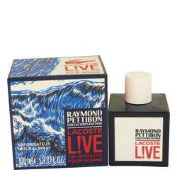 Lacoste Live Cologne by Lacoste 3.4 oz Eau DE Toilette Spray (Limited Edition Raymond Pettibon Bottle)