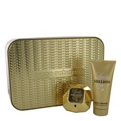 Lady Million Perfume by Paco Rabanne -- Gift Set - 2.7 oz Eau De Parfum Spray + 3.4 oz Body Lotion