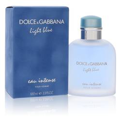 Light Blue Eau Intense Cologne by Dolce & Gabbana 3.3 oz Eau De Parfum Spray