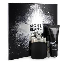 Montblanc Legend Cologne by Mont Blanc -- Gift Set - 3.3 oz Eau De Toilette Spray +.25 oz  Mini EDT Spray + 3.3 oz After Shave Balm