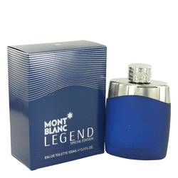 Montblanc Legend Cologne by Mont Blanc 3.4 oz Eau De Toilette Spray (Special Edition-Blue)
