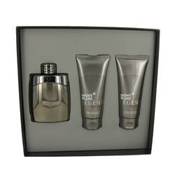 Montblanc Legend Intense Cologne by Mont Blanc -- Gift Set - 3.3 oz Eau De Toilette Spray + 3.3 oz After Shave Balm + 3.3 oz Shower Gel