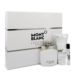 Montblanc Legend Spirit Cologne by Mont Blanc -- Gift Set - 3.3 oz Eau De Toilette Spray + 0.25 oz Mini EDT Spray + 3.3 oz Aftershave Balm